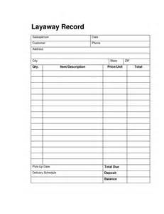 Layaway Agreement Template by 6 Best Images Of Retail Layaway Forms Printable Free