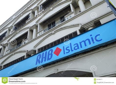 rhb bank in malaysia rhb bank building in ipoh malaysia editorial photography