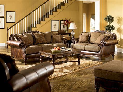 Ashley Furniture Claremore Antique Living Room Set The Claremore Antique Living Room Set