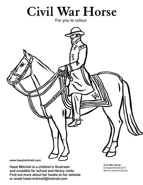 free coloring pages of union civil war