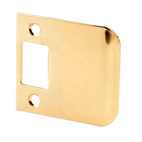 Stiker Stiker Plat prime line 2 1 2 in brass plated extended lip strike e
