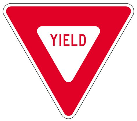 yield sign color yield sign image clipart best