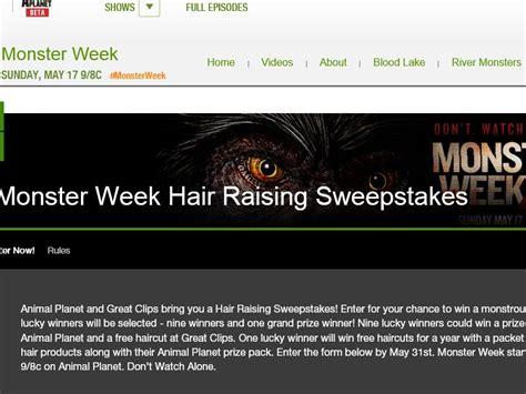 Animal Sweepstakes - animal planet s hair raising sweepstakes