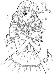 anime coloring book meiko from marmalade boy coloring pages for