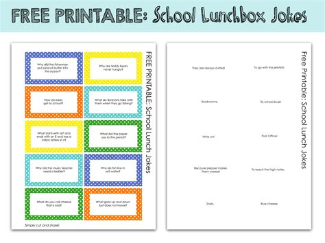 printable funny jokes printable kids lunchbox jokes