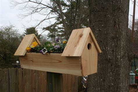 Birdhouse Planters by Cedar Bird House Planter