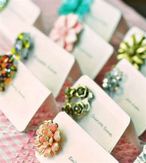 Diy Handmade - vintage brooch cards diy wedding
