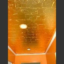 Gold Leaf Ceiling Paint by House Living Room