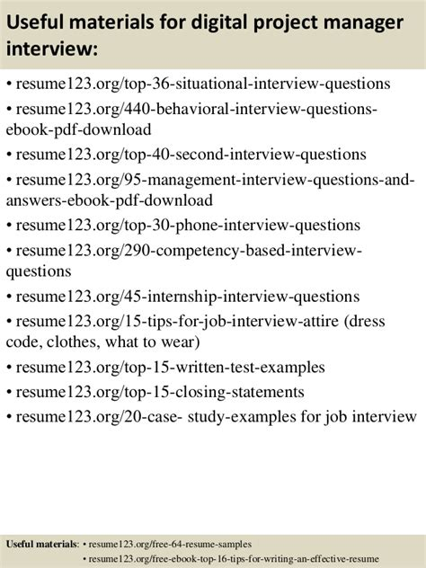 Job Resume Samples Objectives by Top 8 Digital Project Manager Resume Samples