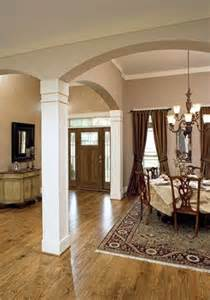Dining Room Entrance With Columns Craftsman Columns Columns And Arches On