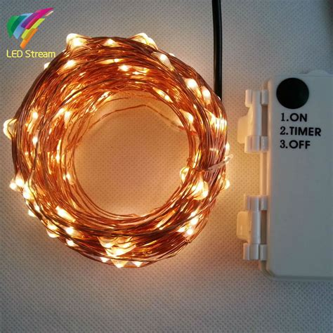 battery operated fairy lights with timer outdoor timer 20m 200 led 3aa battery powered copper wire