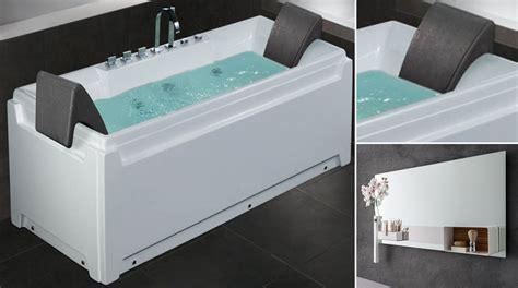 vasca bagno idromassaggio vasca idromassaggio monoposto in bagno nero opaco