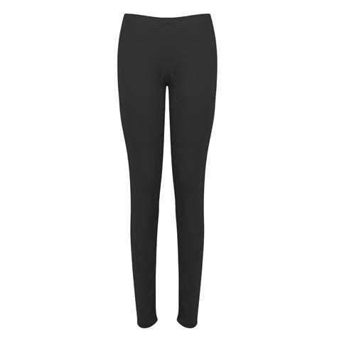 stretch tights new womens plain stretch ankle length trousers