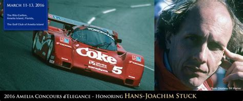 Le Stuck by Le Mans Winner Hans Stuck Named 2016 Amelia Concours Honoree