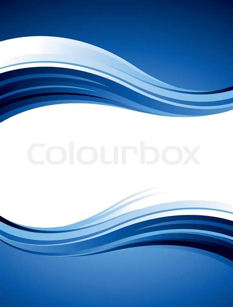 Tropical House Plans blue abstract vector design with waves and curves stock