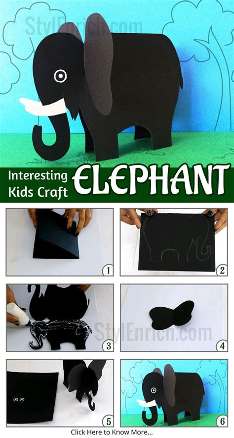 How To Make Animals Out Of Construction Paper - best 25 elephant crafts ideas on zoo crafts