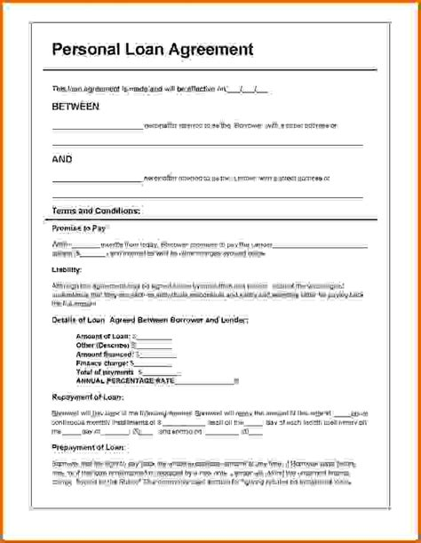 unsecured loan agreement template free loan agreement template pictures to pin on