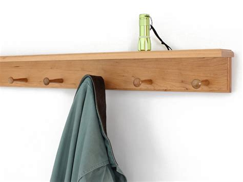 4 Inch Shelf by Solid Cherry Peg Racks With 4 Inch Top Shelf Made