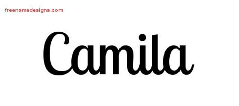 handwritten name tattoo designs camila free download