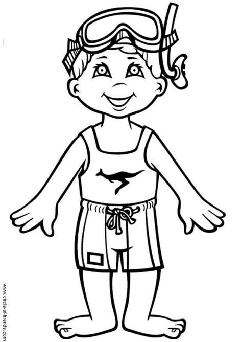 coloring page bathing suit malvorlage hans geht schwimmen ausmalbild 5625