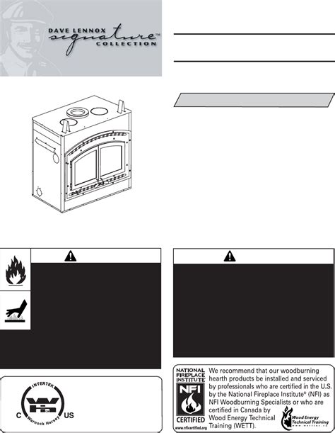lennox hearth indoor fireplace montest user guide