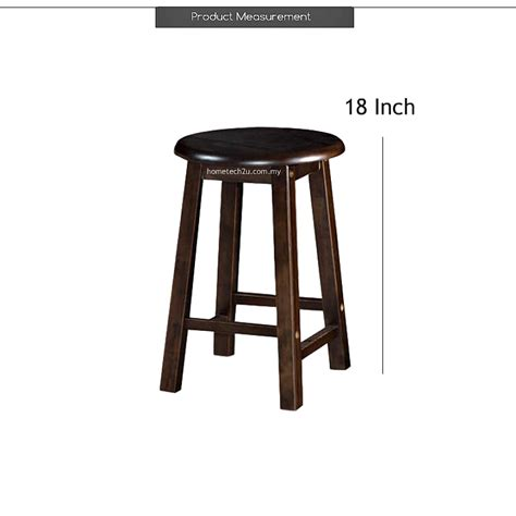 Shop Counter Stools by Uhome 18 Inch Rounded Wooden Bar Stool Chair For Coffee