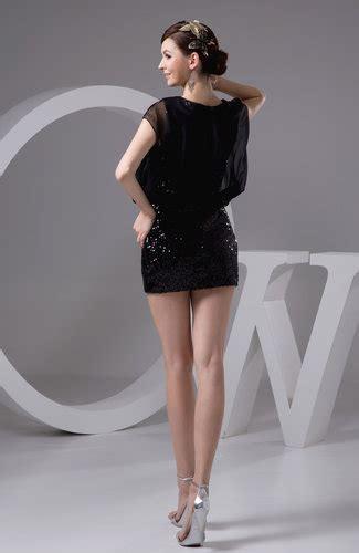 black sexy homecoming dress short semi formal plain