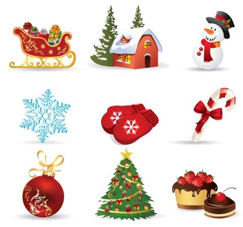 exquisite christmas ornaments vector free vector 4vector
