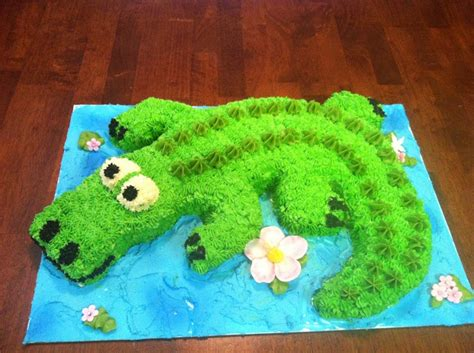 crocodile cake no mold required cakes baking