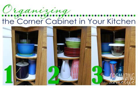 organize cabinets in the kitchen organizing a corner kitchen cabinet organize your