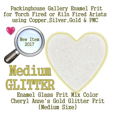 enamel glass frit mix for silver gold copper pmc artists glitter enamels