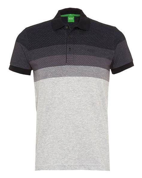 hugo boss pattern t shirt hugo boss green polo shirt paule 3 black chest pattern polo