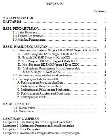 format laporan tahunan organisasi putrabanowati laporan survey manajemen bk di sekolah
