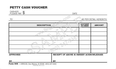 petty cash voucher form