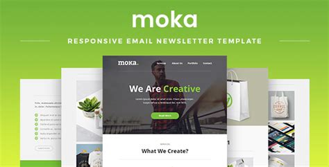 Moka Responsive Email Newsletter Template By Maestomail Themeforest Envato Email Templates