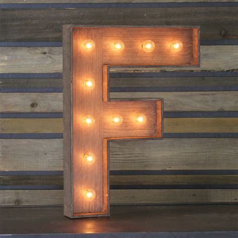 Home Decor Hours by Edison Marquee Letter Quot F Quot Town Amp Country Event Rentals