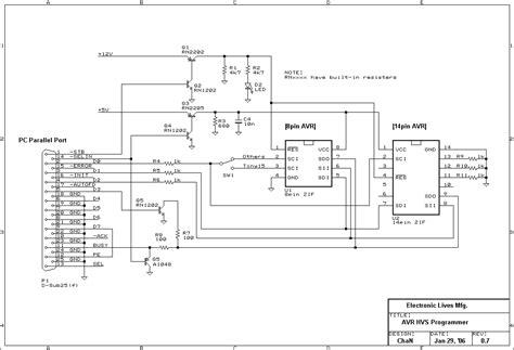 high voltage serial programming avr evertdekker 187 high voltage parallel programmer 187 page 1