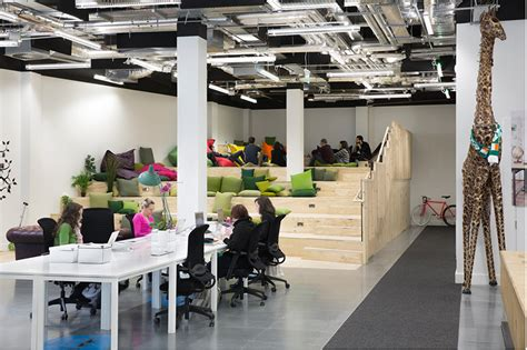 dublin office heneghan peng creates open collaborative spaces for airbnb dublin office
