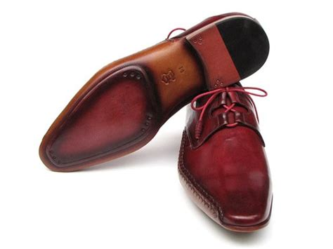 Leather Formal Shoes Maroon paul parkman s ghillie lacing side handsewn dress shoes burgundy leather and leather