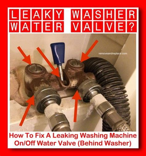 Leaking Washing Machine Faucet by How To Fix A Leaking Washing Machine On Water Valve