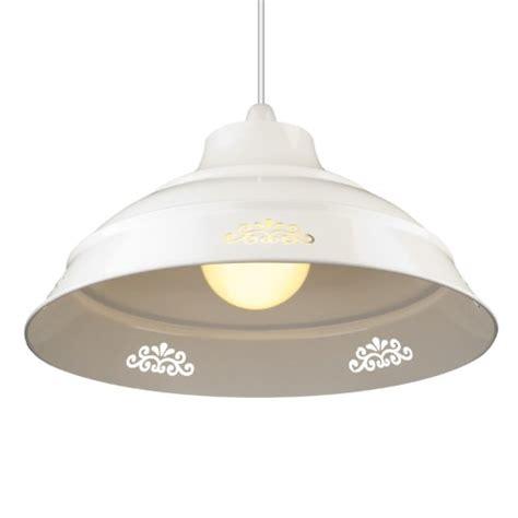White Pendant Light Fitting Large Vintage Style Flower Cut Design Glossy Metal Ceiling Light Fitting Pendant Shade White