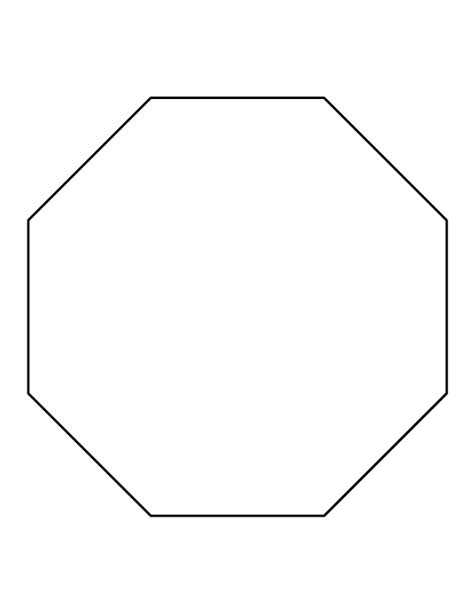 octagon template octagon pattern use the printable outline for crafts