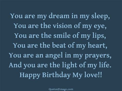 Happy Birthday To My In Quotes Happy Birthday My Love Birthday Quotes 2 Image
