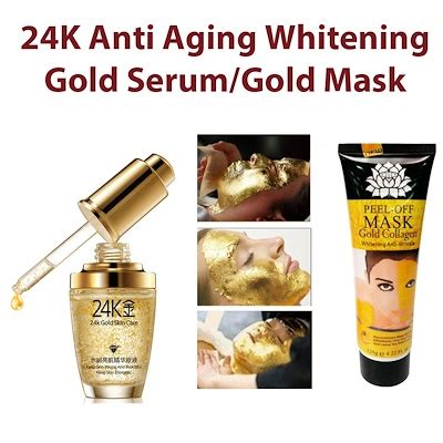 Berapa Whitening Serum Gold qoo10 24k gold whitening moisturizing serum and collagen