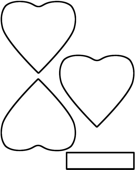 Shamrock Outline Clipart by Three Leaf Clover Shamrock Paper Craft Black And White Template