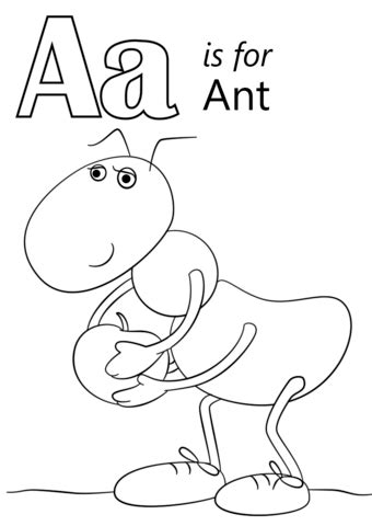 ant coloring page letter a is for ant coloring page free printable
