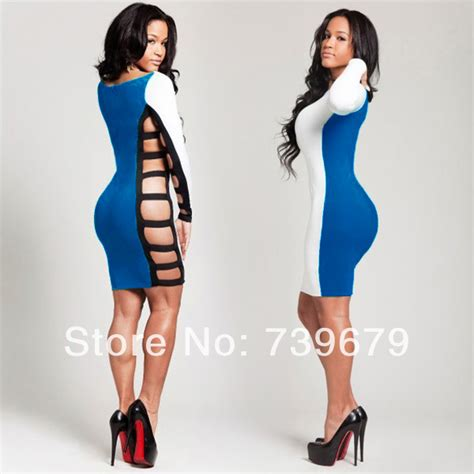 Blue Duvet New Fashion 2013 Autumn Bandage Dress Casual White And