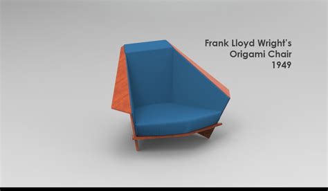3d origami chair tutorial 3d model of design origami chair