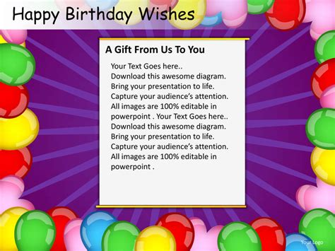 Happy Birthday Wishes Powerpoint Presentation Templates Happy Birthday Powerpoint Presentation