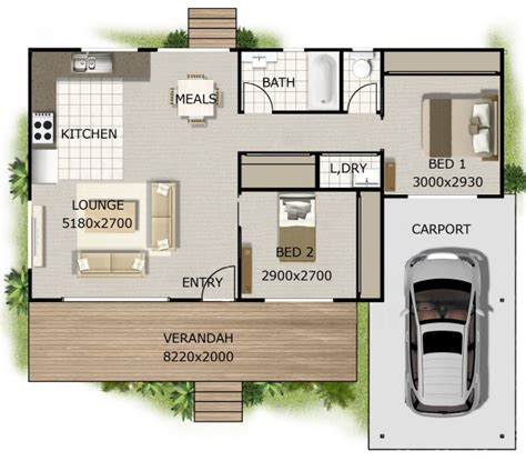 2 bedroom house plans australia australian dream home 2 bedroom cottage style ideal for 1st home or granny flat with